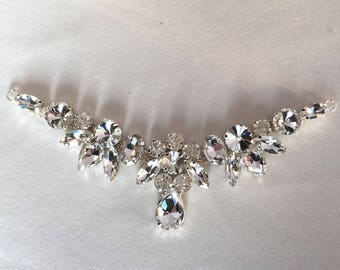 17cm Clothing collar diamond ornaments
