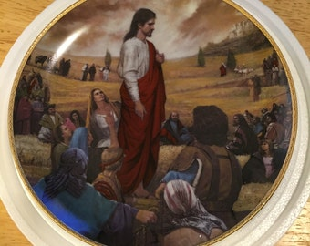 Danbury Mint Collectible Plate - The Sermon on the Mount