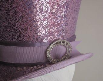 Lavender Sequin Top Hat Perch