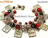 ON SALE Book Lovers Charm Bracelet Jewelry, Love to Read Charm Bracelet. Bookworm, Reading, Readers, Bookish