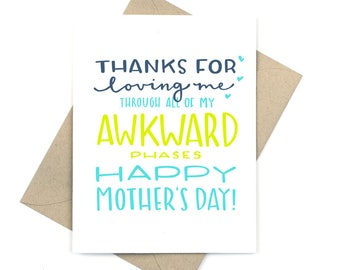 mother's day card - awkward phases