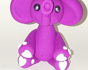 Pink heart elephant
