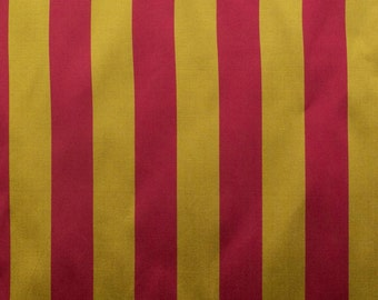 Taffeta Stripes Crimson/Lime 58 Inch Fabric by the Yard - 1 Yard