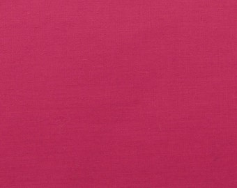 60 Inch Poly Cotton Broadcloth Hot Pink Fabric by the yard - 1 Yard