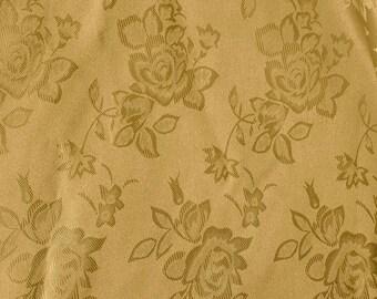 Brocade Jacquard Satin Sand 60 Inch Fabric by the Yard - 1 yard