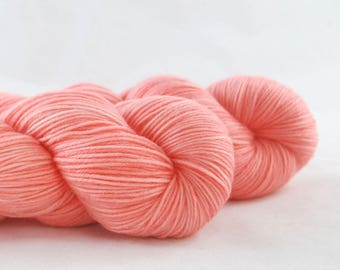 Hand Dyed Merino / Nylon Sock Yarn Apricot