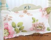 Handmade Rectangle Boudoir, Lumbar Pillow with Modern Cotton Linen, Housewarming Gift Inspiration, Decorative Decor