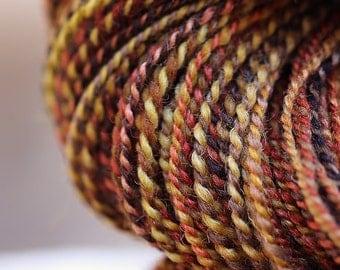 "Handspun Yarn Fingering Shetland/Silk (70/30) ""Peak Color""  388 yds."