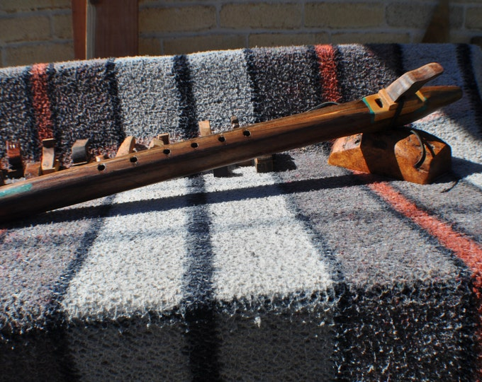 Native  American Style Low D scale  Walnut  flute BY CRAZY BEAR