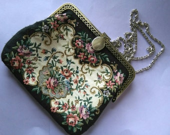 Vintage Victorian inspired fabric purse