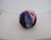 Kimekomi Ball Ornament ,silk kimono fabric #12