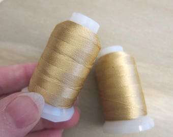 Purely Silk, Size E, Gold, Silk Beading / Stringing Thread - Available on 200-yard Spools (on 24-yd Cards, see below) & in Multi-Spool Pkgs