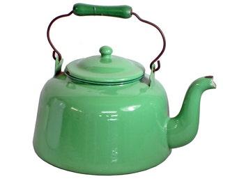 Vintage Enamelware Teapot