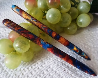 A Kings Coat acrylic pair of 5 inch hair sticks (choose 1 or more)