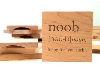 Wood Bottle Opener Coasters - Nerd & Geek Series - Single Coasters