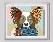 Papillon Dog Art Print Poster,  Papillon Gift,  Papillon Poster Dog Pet Portrait, Animal Art, Dog Painting, Dog Wall Art