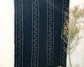 African Mud cloth Fabric, Mudcloth fabric, black and white mudcloth throw authentic mudcloth textile #30