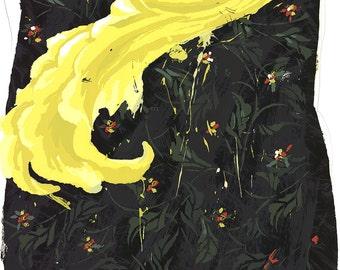 Robert Zakanitch-Yellow Feather-1983 Serigraph-SIGNED