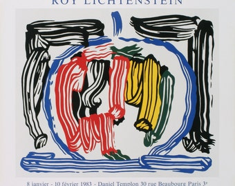 Roy Lichtenstein-Apple-1983 Lithograph