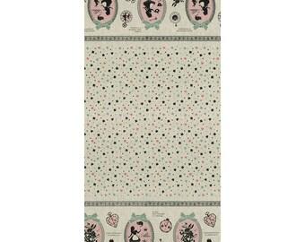 Lecien Japanese Fabric / Alice in Wonderland Fabric Ivory - 110cm x 50cm