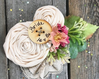 Bride to Be Pin //  Garden Party Bridal Baby Shower // Custom Order