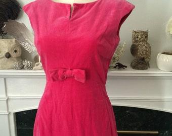 Pink Velvet wiggle Dress