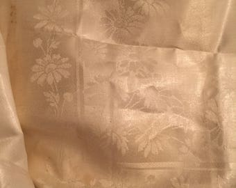Uncut 40s Double Damask Irish Linen Dinner Napkins