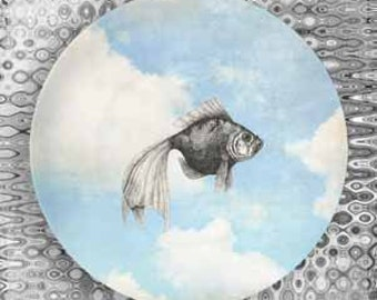 goldfish II sky melamine plate