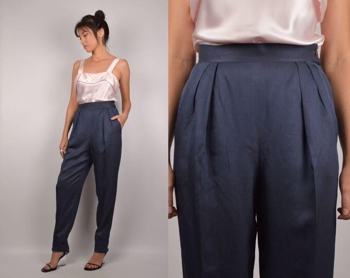 Ferragamo Silk High Waist Trousers Vintage