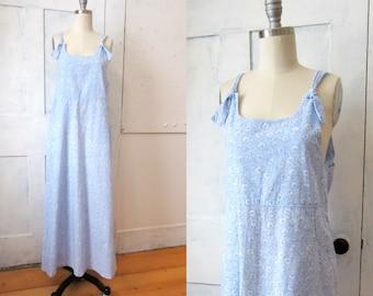 Laura Ashley Floral Cotton Dress - Jumper - Sun Dress - Overall - Tank Dress - Long - Maxi Dress