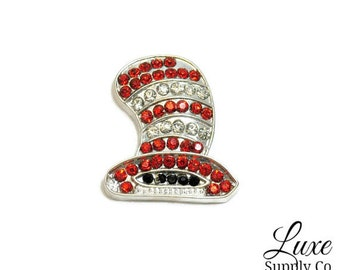 Dr. Seuss Cat in the Hat Rhinestone Embellishments - Flat back - 25mm x 22mm - DIY Crafting Supplies - Luxe Supply Co.