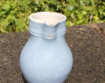 Vintage French blue jug, Vintage French blue pitcher, French vintage water pitcher, French blue vase, French vintage serving piece, Blue jug