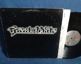 "Vintage, Great White - ""S/T"", Vinyl, LP Record Album, Original 1984 First Press, Out Of The Night, Substitute, On Your Knees, Hair Metal"