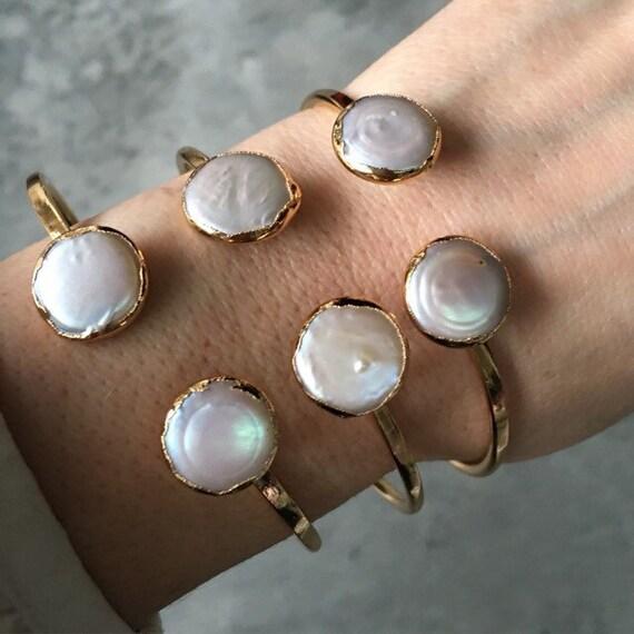 Pearl Cuff Bracelets