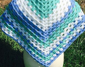 Pretty Handmade Shawl - Wrap - Triangle Scarf