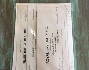 Receipts Ephemera / 5 Vintage Standard Receipts Ephemera Invoice Bill Receipts  1920's