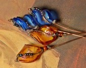 SALE! Soldered Lampwork Glass headpins. Rustic bohemian charms.
