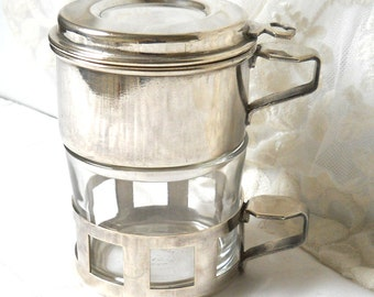 1 vintage french coffee maker single cup coffee filter french coffee filter single cup coffee maker silver plated  french vintage