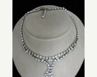 On Sale Rhinestone Necklace Item K #69