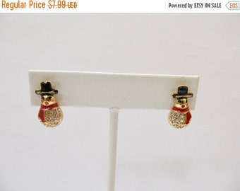 On Sale QUACKER FACTORY Enameled Crystal Snowman Earrings Item K # 1576