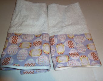Easter Decorative Hand Towels, Spring Hand Towels, Easter EggsTowel Set, Powder Room Hand Towels, Kitchen Hand Towels, Bath Hand Towels -2