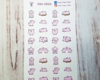 Piggy parade stickers for the Erin Condren life planner