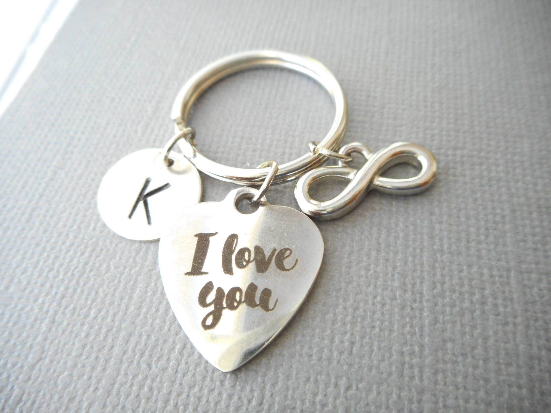 I love you infinity initial keychain gift for girlfriend i love you infinity initial keychain gift for girlfriend birthday gift girlfriend negle Images