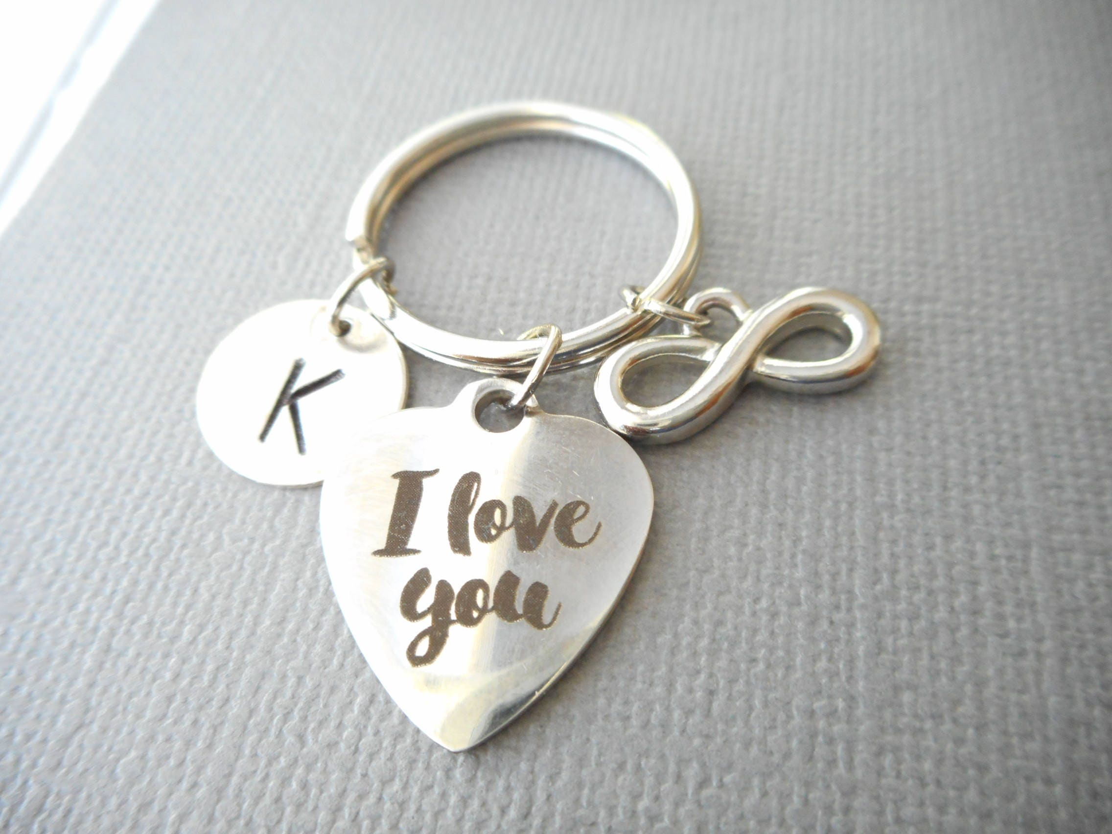 I love you infinity initial keychain gift for girlfriend i love you infinity initial keychain gift for girlfriend birthday gift girlfriend negle Choice Image