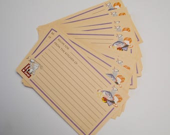 vintage recipe card set, unused