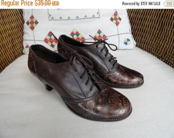 SALE Corelli brown leather heels shoes size 6 made in Brazil