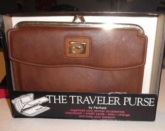 VINTAGE LADIES WALLET  by Fairfield Brown  Never Used!!  Travelers Purse