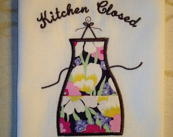 Kitchen Closed-Gone Shopping Towel