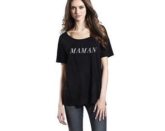 MAMAN Organic Oversized T Shirt | Black