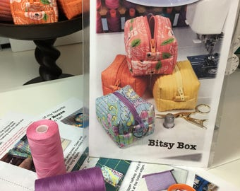 Bitsy Box Sewing Pattern - Paper Copy